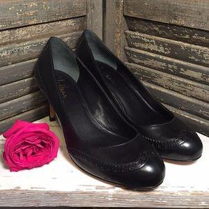 Cole Haan Black Detailed Heels